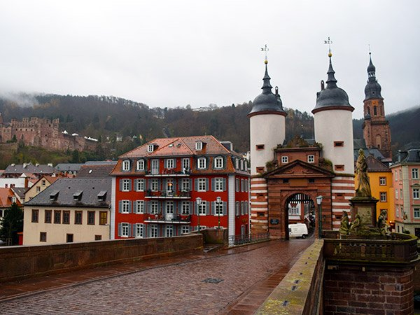 Heidelberg seems to have it all, a riverside location, lovely old buildings, schnitzel, and even a ruined castle looming over the city and five little Christmas Markets.