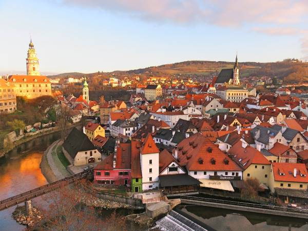 Cesky Krumlov is one of Europe true romantic villages